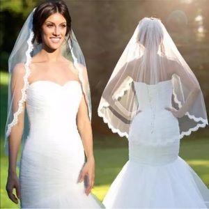 Fancy Trim Wedding Veil